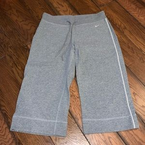 Nike long gray cotton shorts